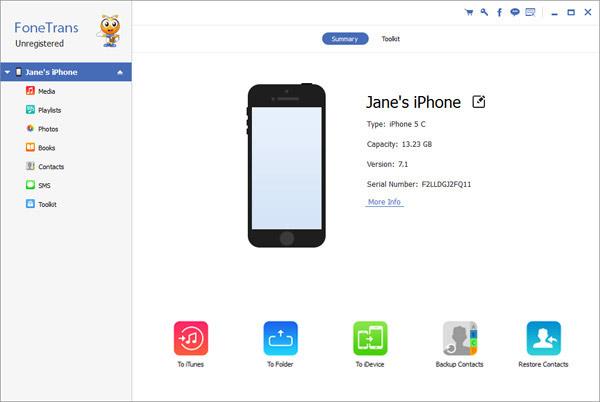 iTunes per trasferimento dati iPhone