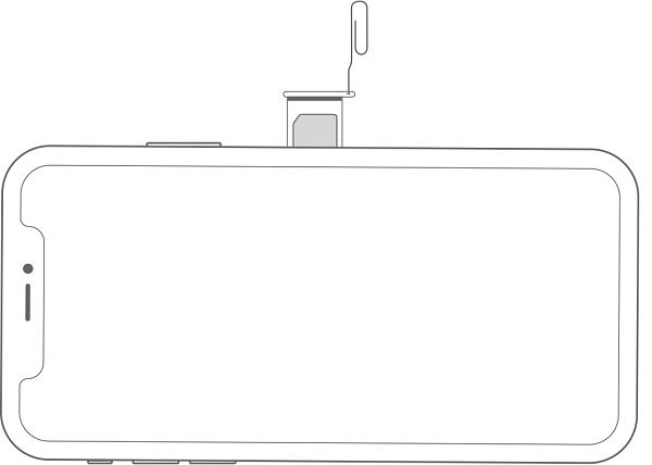 iPhonex rimuove il diagramma della scheda SIM