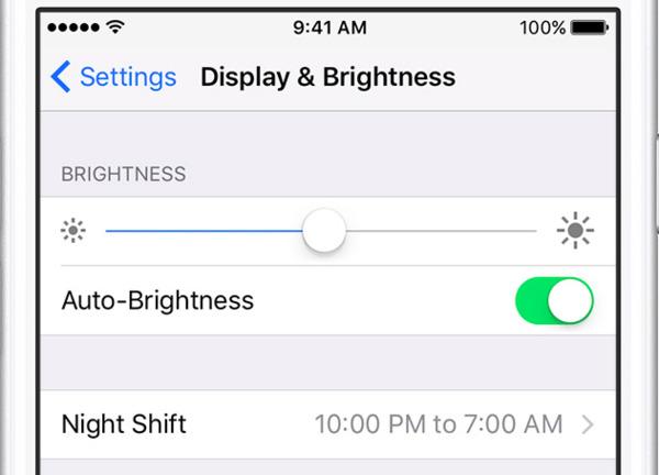 Réduire la luminosité de l'iPhone
