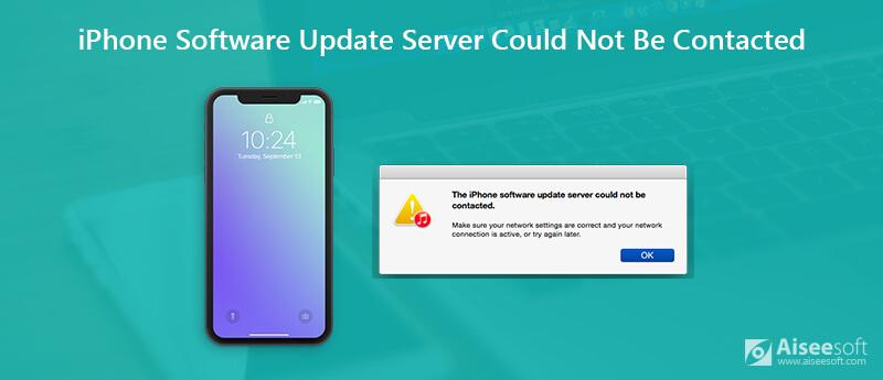 Impossibile contattare il server di aggiornamento software iPhone