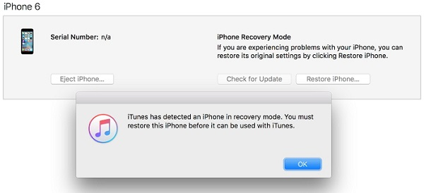iPhone recovery mode itunes restore