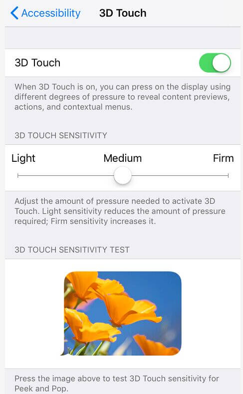Dostosuj 3D Touch