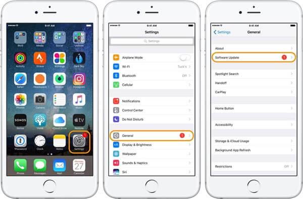 aktualizace iOS