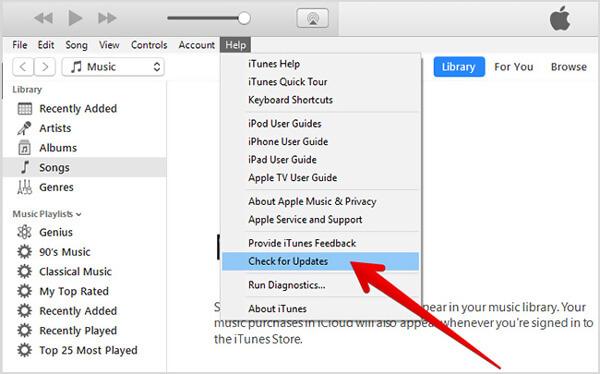 iTunes Aggiornamento