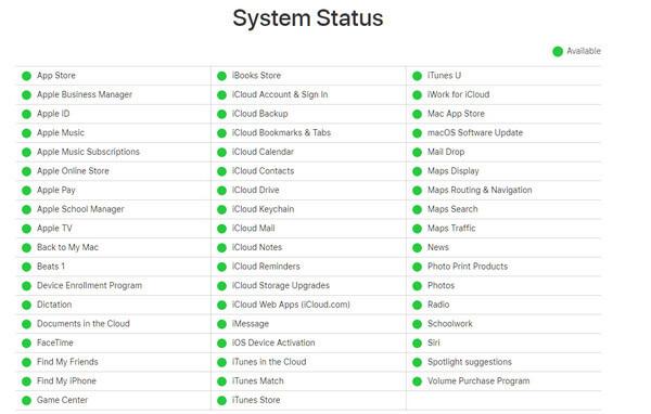 Status systemu