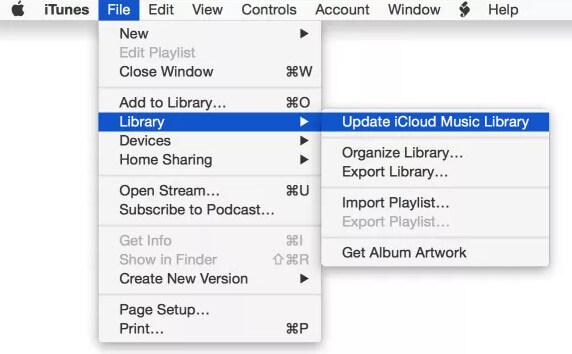 Zaktualizuj bibliotekę muzyczną iCloud