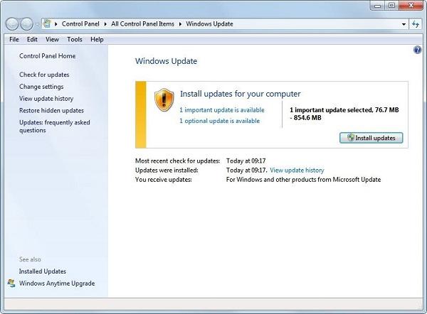 Aggiornamento Windows