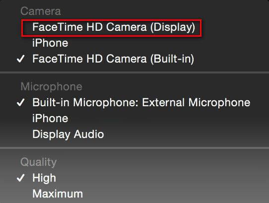 Facetime Build In Camera