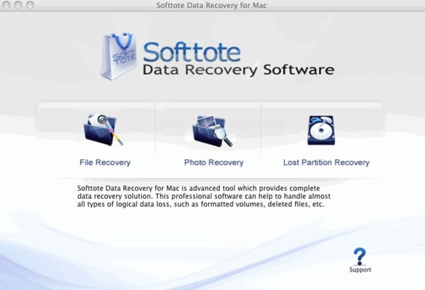 Softtote Mac Obnova dat