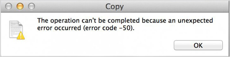 Mac-foutcode 50