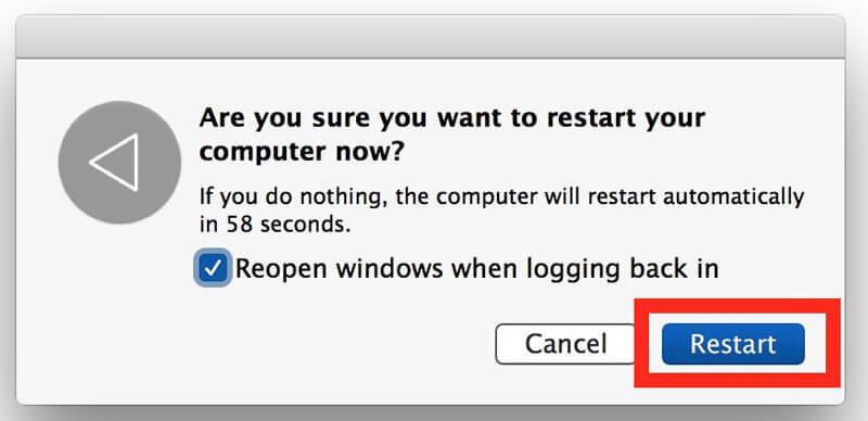 Start de Mac opnieuw