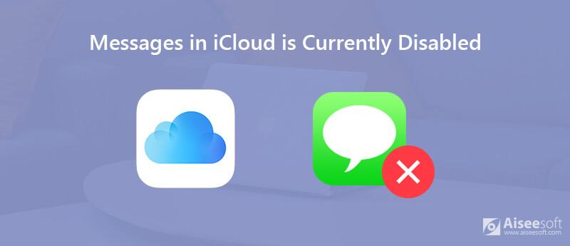 I messaggi in iCloud sono attualmente disabilitati