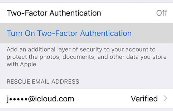 Attiva l'autenticazione a due fattori