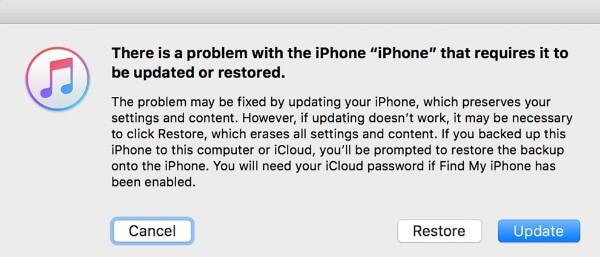 Impossibile ripristinare il tuo iPhone o iPad