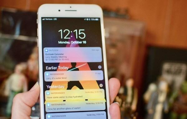 Errore di notifica dell'iPhone