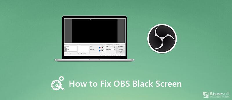 Correggi lo schermo nero di OBS
