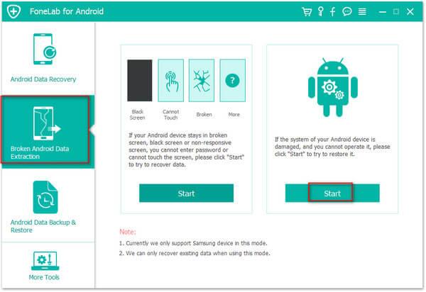 Uruchom Broken Android Data Extraction