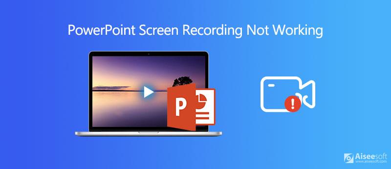 Διορθώστε την εγγραφή οθόνης PowerPoint που δεν λειτουργεί