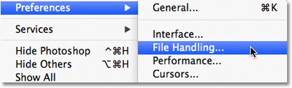 Imposta il salvataggio automatico di Photoshop su Mac