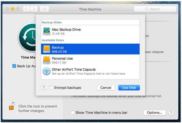 Usa Time Machine Backup