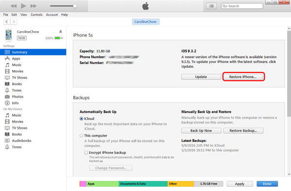 After That You Can Use ITunes To Restore Your IPhone And Invalid SIM No Card Etc Errors Will Be Solved