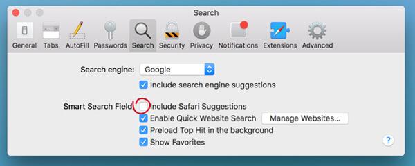 Suggerimenti Safari
