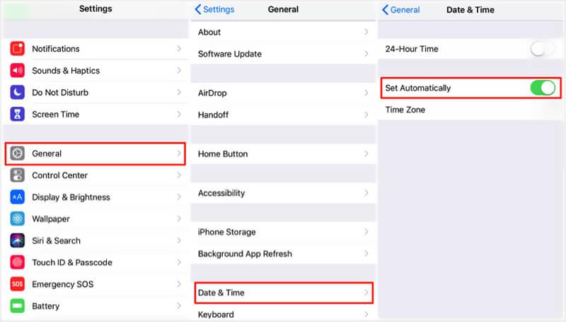 自動設置時間數據