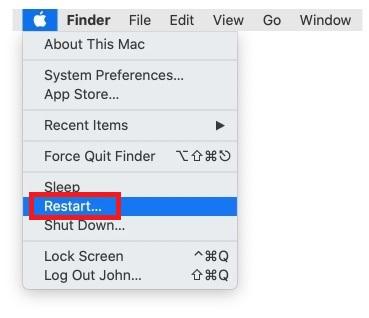 Κάντε επανεκκίνηση του Mac