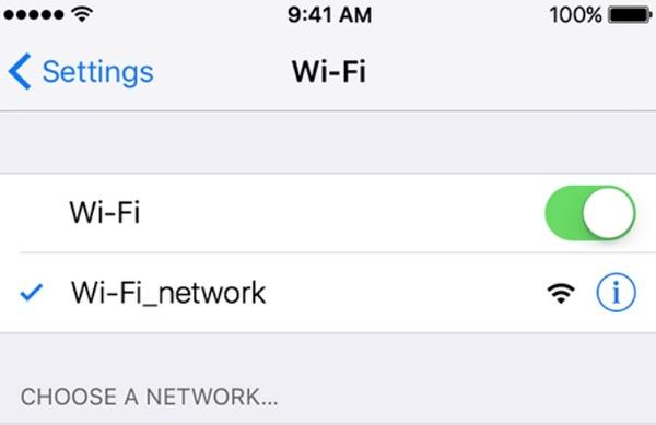 Ελέγξτε τη σύνδεση wi fi