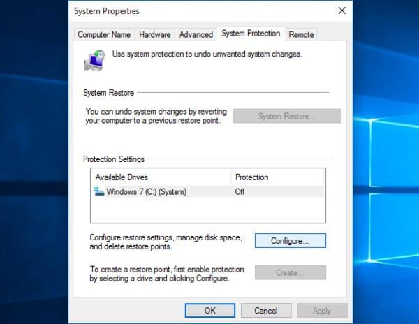 Άνοιγμα ιδιοτήτων συστήματος Windows στα Windows 10