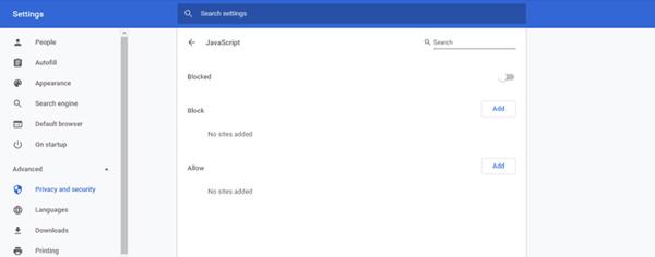 Povolit JavaScript