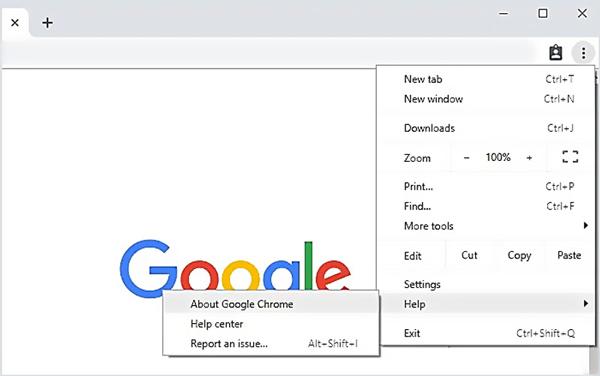 Aktualizujte Google Chrome