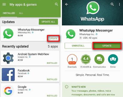 更新WhatsApp