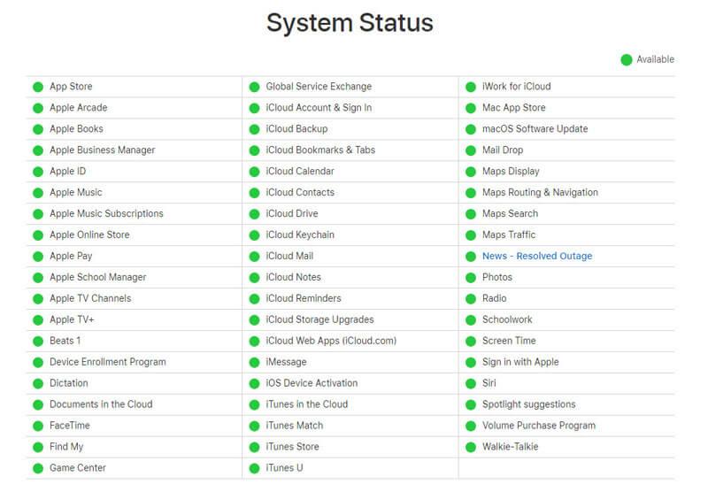 Server di sistema Apple