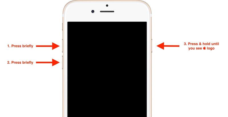 Forza Riavvia iPhone 8