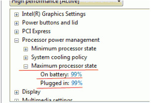 Změnit maximální stav procesoru