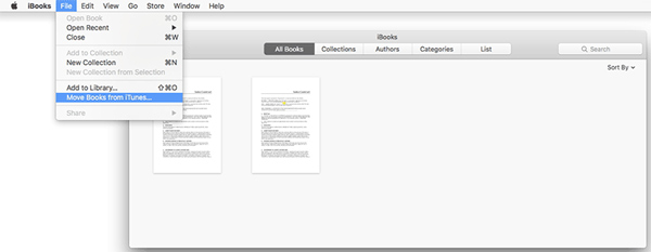 Sincronizza libri in iTunes su Mac