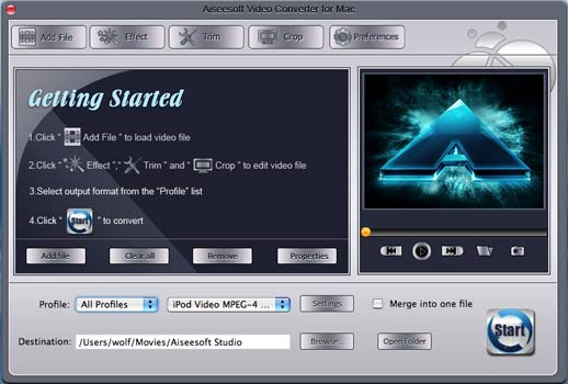 Convert MPEG to MOV MP4 on Mac