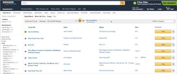 Τραγούδια του Amazon