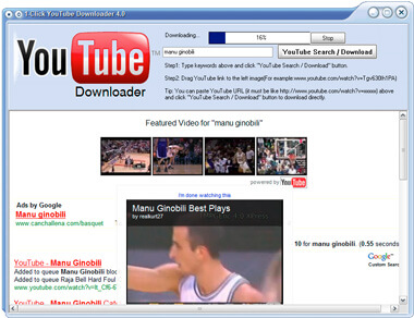 1 Fai clic su YouTube Video Download