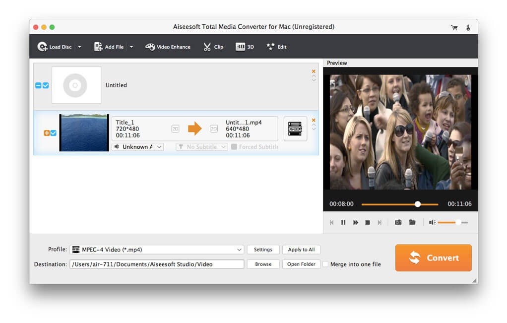 Aiseesoft Total Media Converter for Mac Screen shot