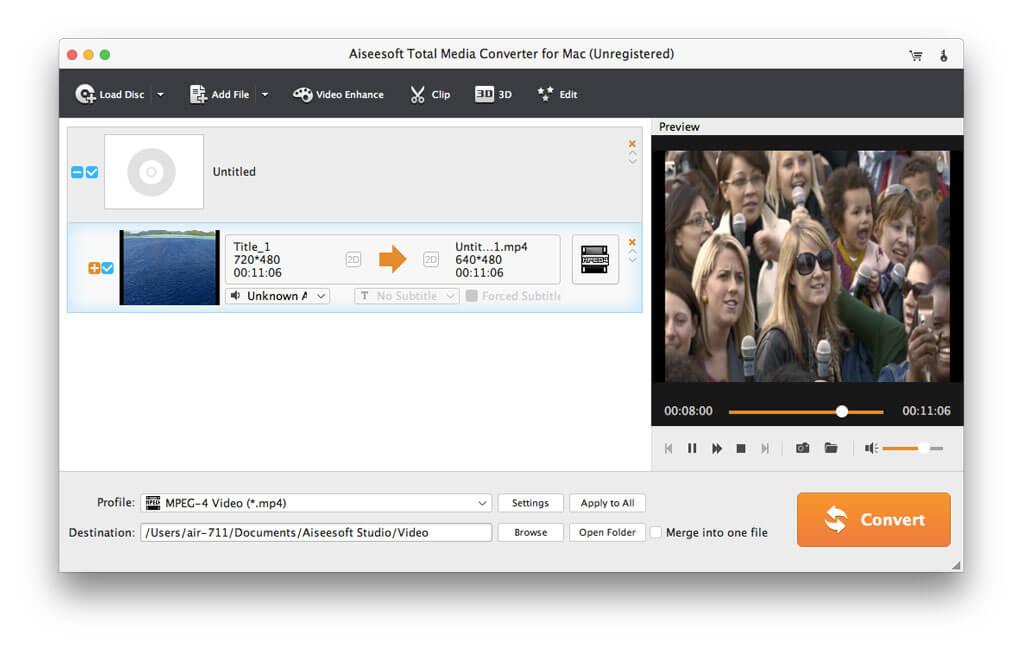 Aiseesoft Total Media Converter for Mac full screenshot