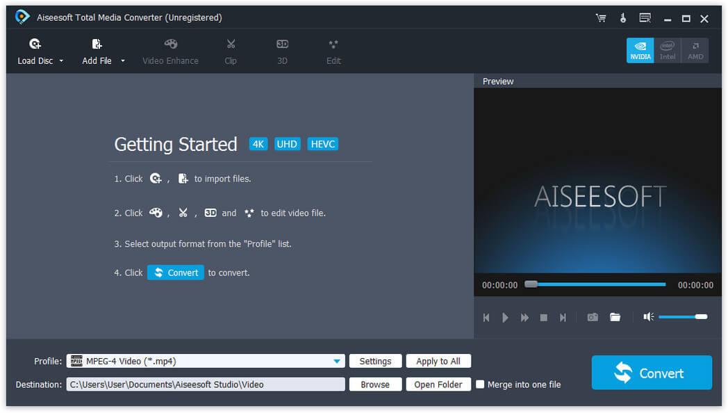 Click to view Aiseesoft Total Media Converter screenshots