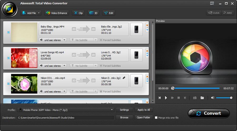 Aiseesoft Total Video Converter Platinum screenshot
