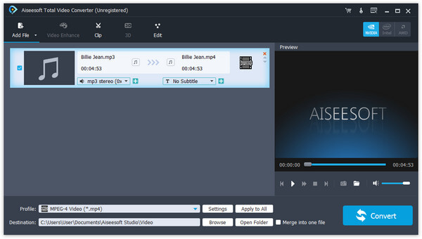 Carica file audio