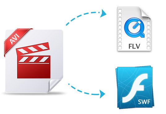 Μετατροπή AVI σε SWF και FLV