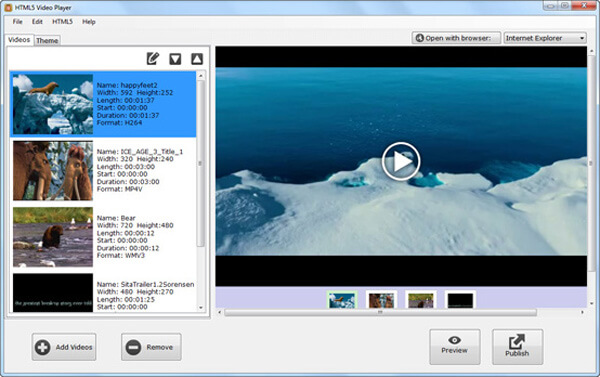 Přehrávač videa HTML5