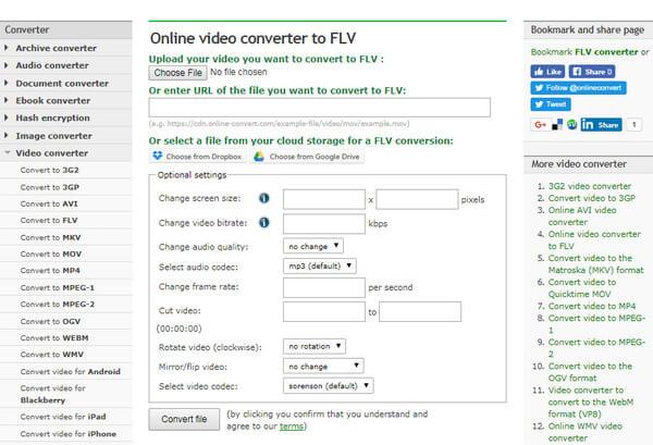 Μετατροπή MP4 σε FLV online
