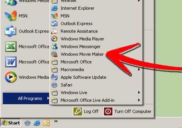 Ανοίξτε το Windows Movie Maker