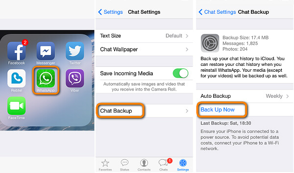 Transfer WhatsApp to New iPhone with WhatsApp iCloud
